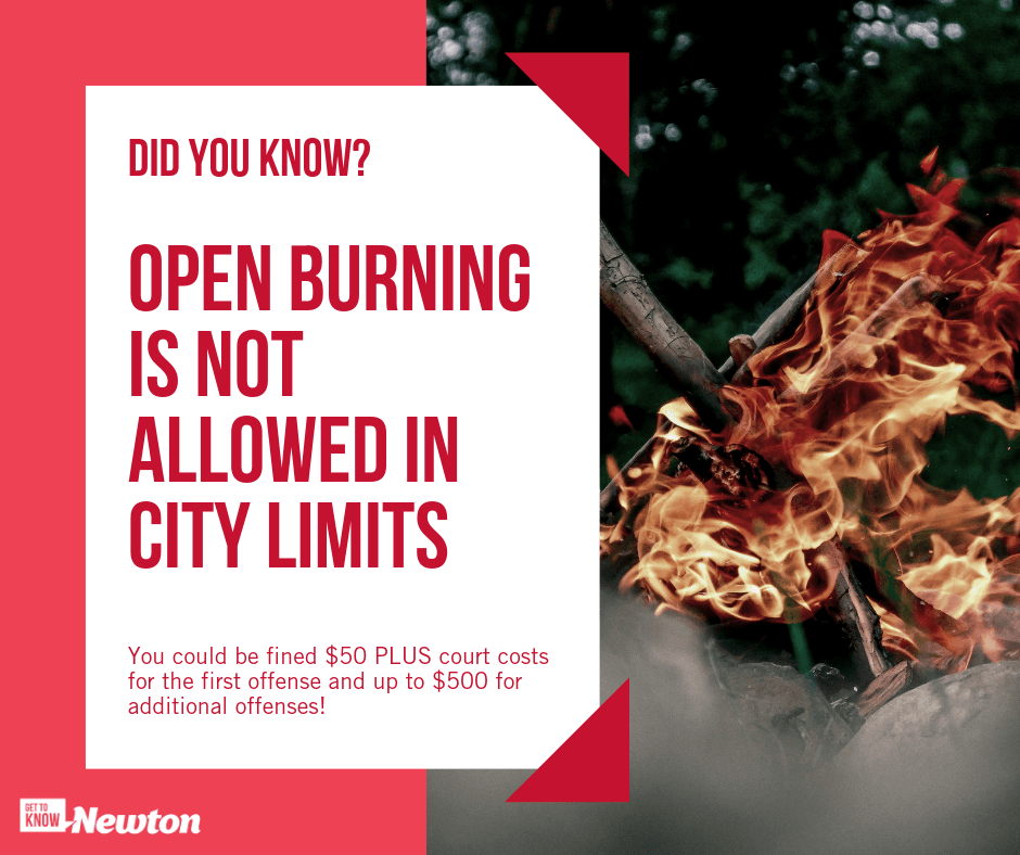 OPEN BURNING NOT ALLOWED IN CITY LIMITS