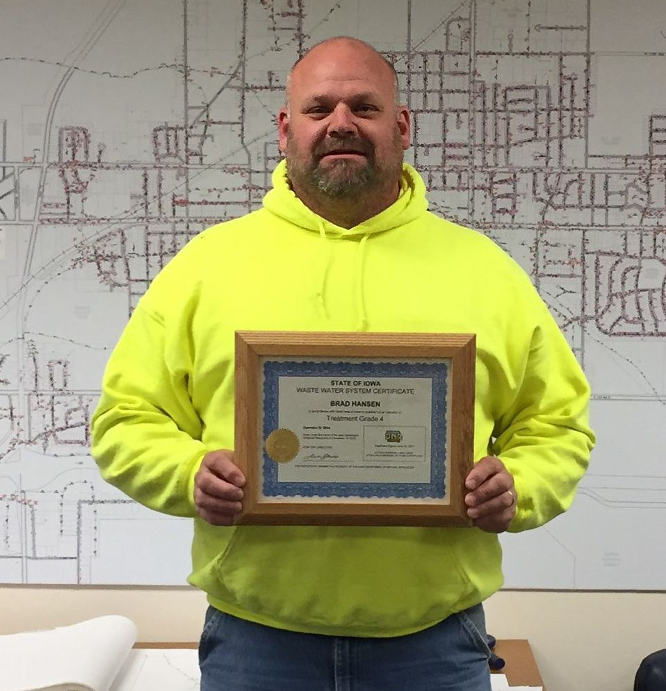 Brad Hansen, Water Pollution Control Operations and Maintenance Supervisor
