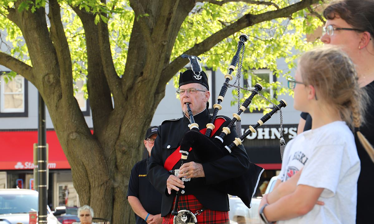 Bagpipes played by Ron Husted